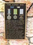 Korea War Memorial Plaque