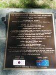 Korean War Memorial  Dedication Plaque