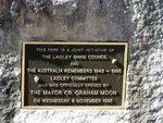 Laidley Shire Memorial Park  Plaque