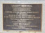 Leggett Memorial : 13-October-2012