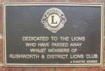 Memorial Wall Plaque : 25-04-2014