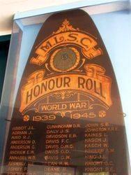Honour Roll Closeup : 10-January-2015