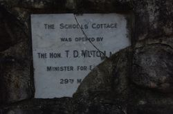 School Cottage Plaque: 19-September-2014