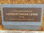 Herbert Lewis Plaque : December 2013