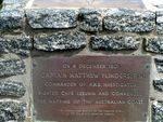 Matthew Flinders Memorial Inscription