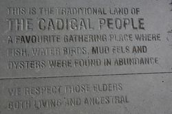 Indigenous Plaque -Cadigal People : September-2014