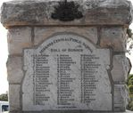 Miranda War Memorial Roll of Honour