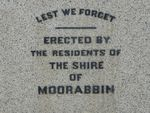 Moorabbin World War One Memorial : 19-September-2012