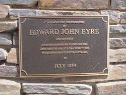 Eyre Plaque : 12-Octoer-2002