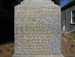 Memorial Inscription : April 2014