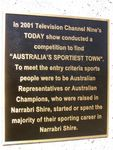 Sportiest Town Plaque: 11-August-2014