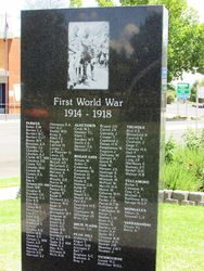 WW1 Honour Roll: 11-January-2016
