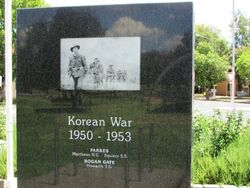 Korean War Honour Roll: 11-January-2016