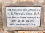 Paskeville Soldiers Memorial : 27-April-2011