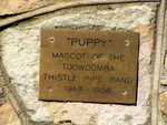 Puppy Inscription Plaque
