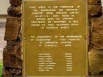 QANTAS Cairn Inscription