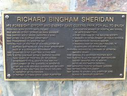 Sheridan Plaque : 15-December-2014
