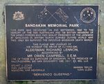 Sandakan Plaque Inscription : 10- August-2014