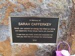 Sarah Cafferkey Plaque Inscription : October 2013