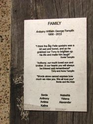 Family Plaque ; 28-December-2014