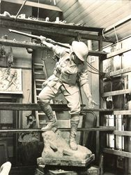 1924 : Clay model in Charles Web Gilbert`s studio : State Library of Victoria : H90.56