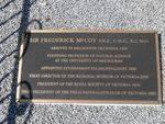 Sir Frederick McCoy : 09-March-2013