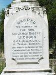 Sir James Dickson Inscription