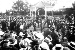 1919 : ANZAC Day at original rotunda : State Library of South Australia - PRG-280-1-26-195
