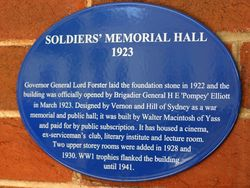 Memorial Hall Plaque : 16-October-2014