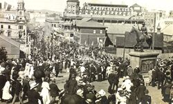 1920 : Edward Street : Visit of Price of Wales (State Library of Queensland)