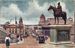 1920 : Original location in Edward Street (State Library of Queensland)
