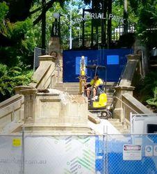 31-March-2017 : Demolition of plinth (Des Embrey)