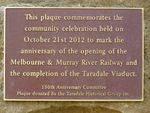 Taradale Viaduct Plaque : 15-04-2014