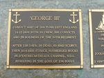 George 111 Plaque : 2007