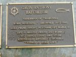 Gavin Anthony Batchelor Plaque : 2007