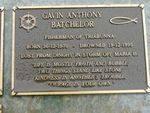 Gavin Anthony Batchelor Plaque : 2007