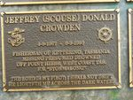 Jeffrey (Scouse) Donald Crowden : 2007