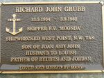 Richard John Grubb Plaque : 2007