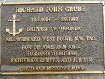 Richard John Grubb Plaque : 2007