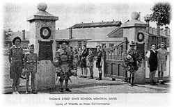 Thomas Street State School Memorial Gates