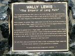 Wally Lewis Plaque