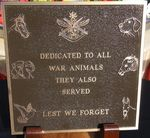 War Animals Plaque