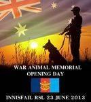 War Animals Dedication Flyer : June 2013