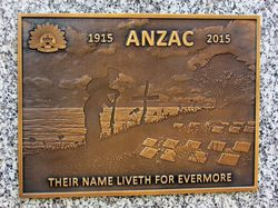 ANZAC Plaque: 11-July-2016